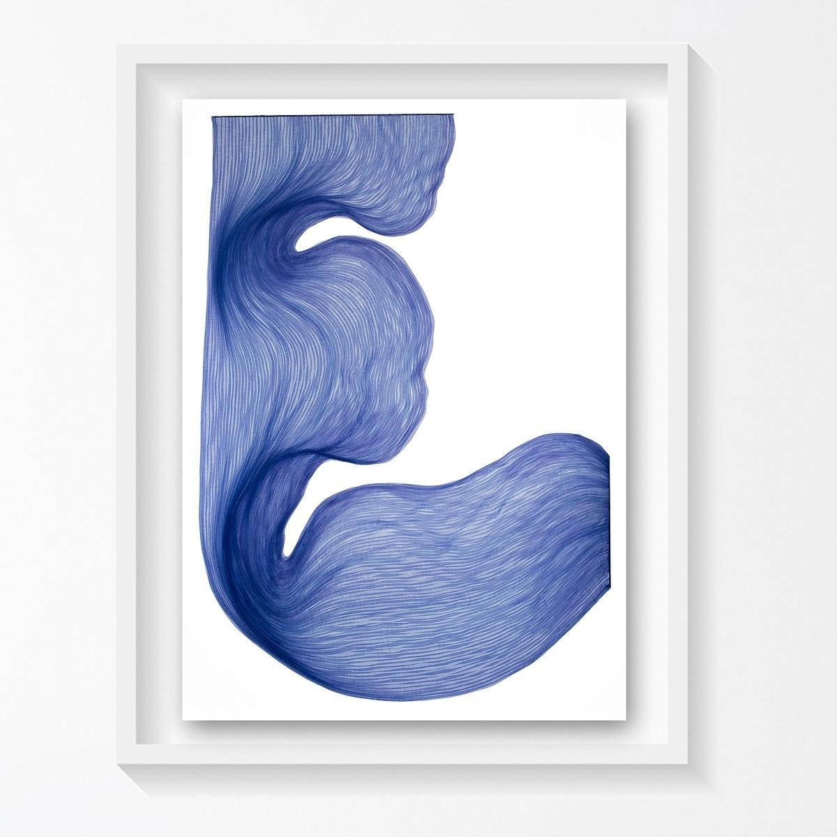 Lavender Blue | Lali Torma | Zeichnung | Kalligraphietusche auf Papier, gerahmt