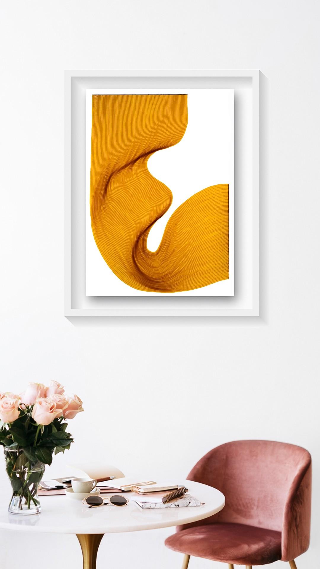 Old Sunlight Fold | Lali Torma | Zeichnung | Kalligraphietusche auf Papier, gerahmt - 2