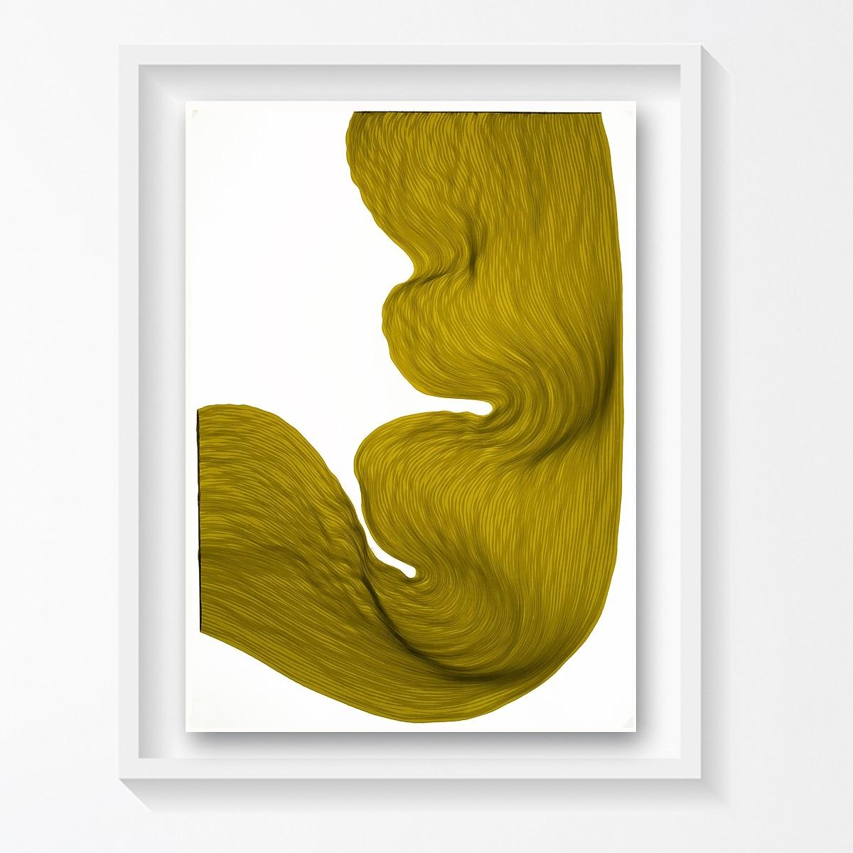 Rusty Lime | Lali Torma | Zeichnung | Kalligraphietusche auf Papier, gerahmt