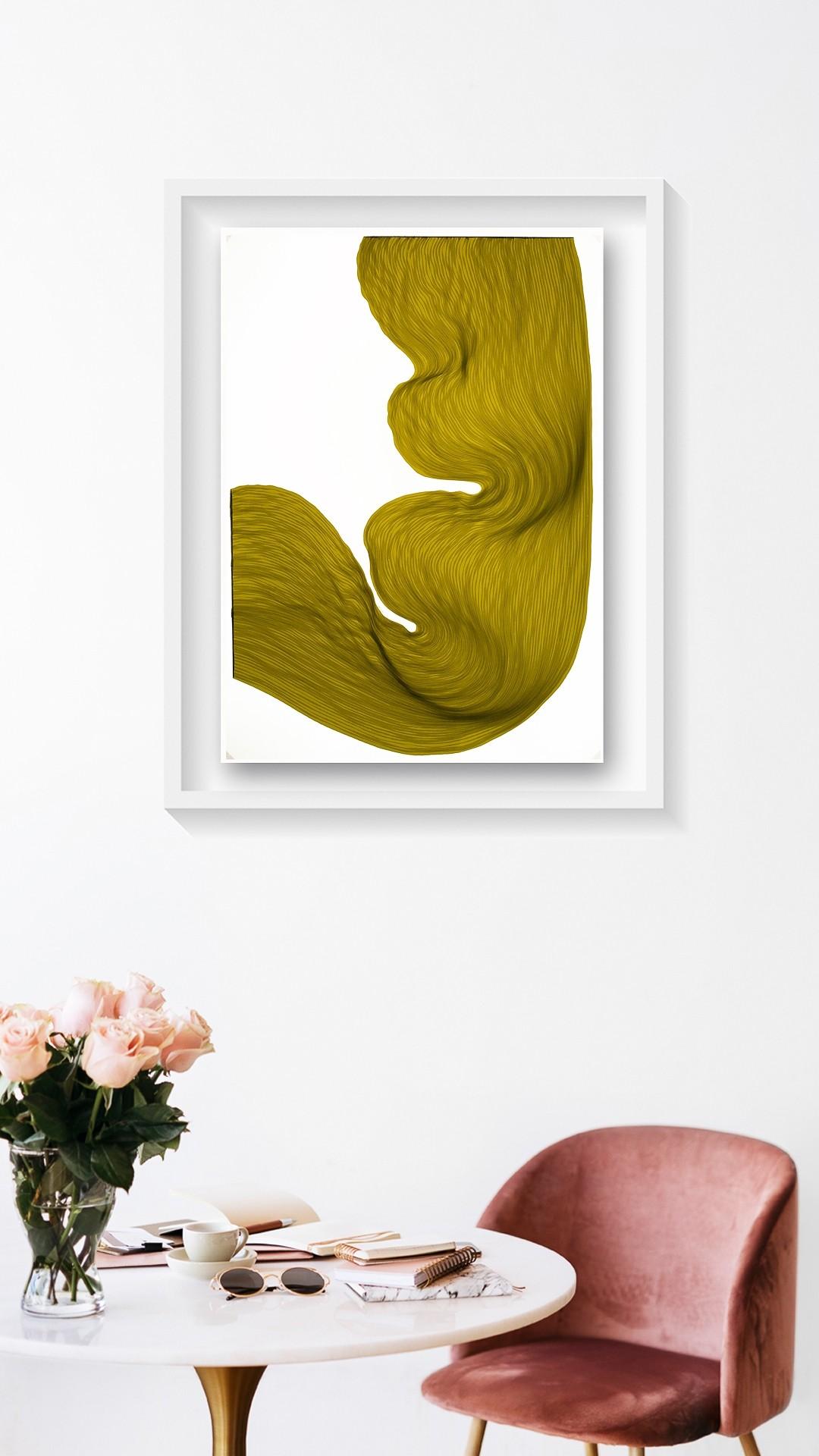 Rusty Lime | Lali Torma | Zeichnung | Kalligraphietusche auf Papier, gerahmt - 2