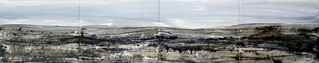 Malerei Prestige | Künstler Marek Schovanek | Mixed Media auf Leinwand, Panorama