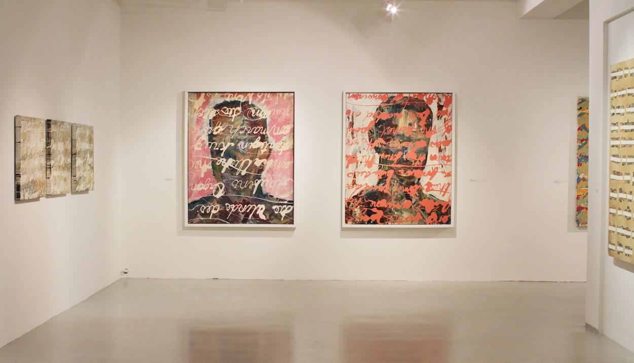 Malerei Gala und Rosen sind Rot | Ausstellung PROPAGANDA | Künstler Marek Schovanek