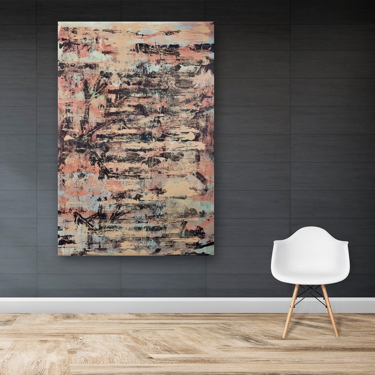 Spurensicherung_04, Malerei von Malwin Faber, Acryl und Sprühlack auf Leinwand - 03