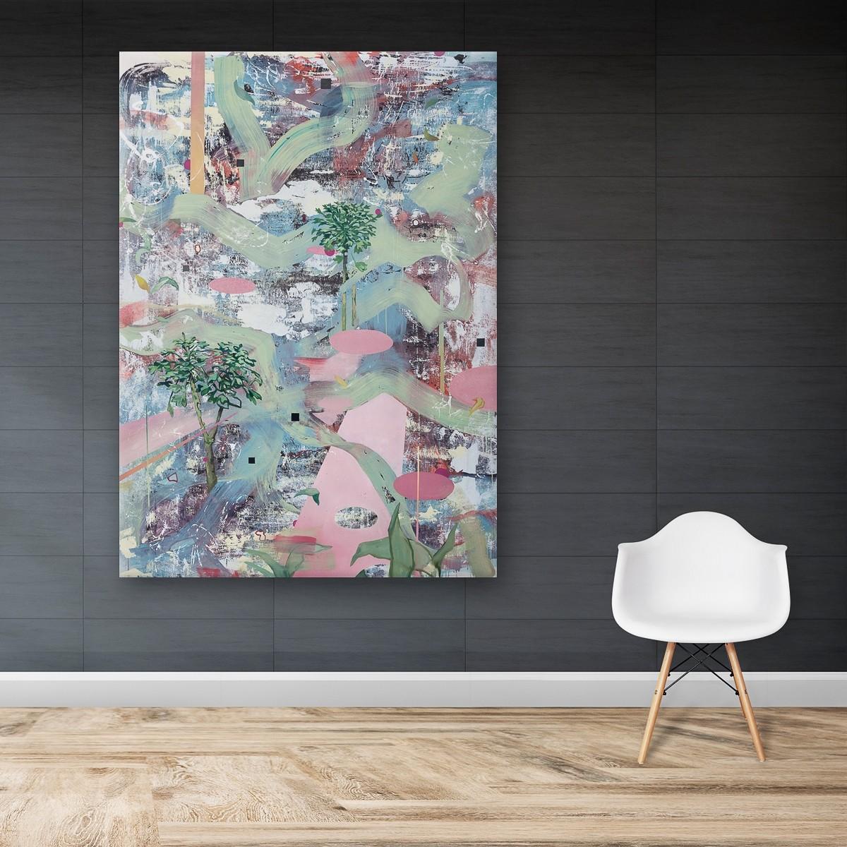 Spurensicherung_06, Malerei von Malwin Faber, Öl, Acryl und Sprühlack auf Leinwand - 02