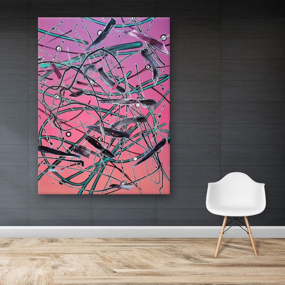 Zwischenräume 16, Malerei von Malwin Faber, Öl, Acryl und Sprühlack auf Leinwand - 3