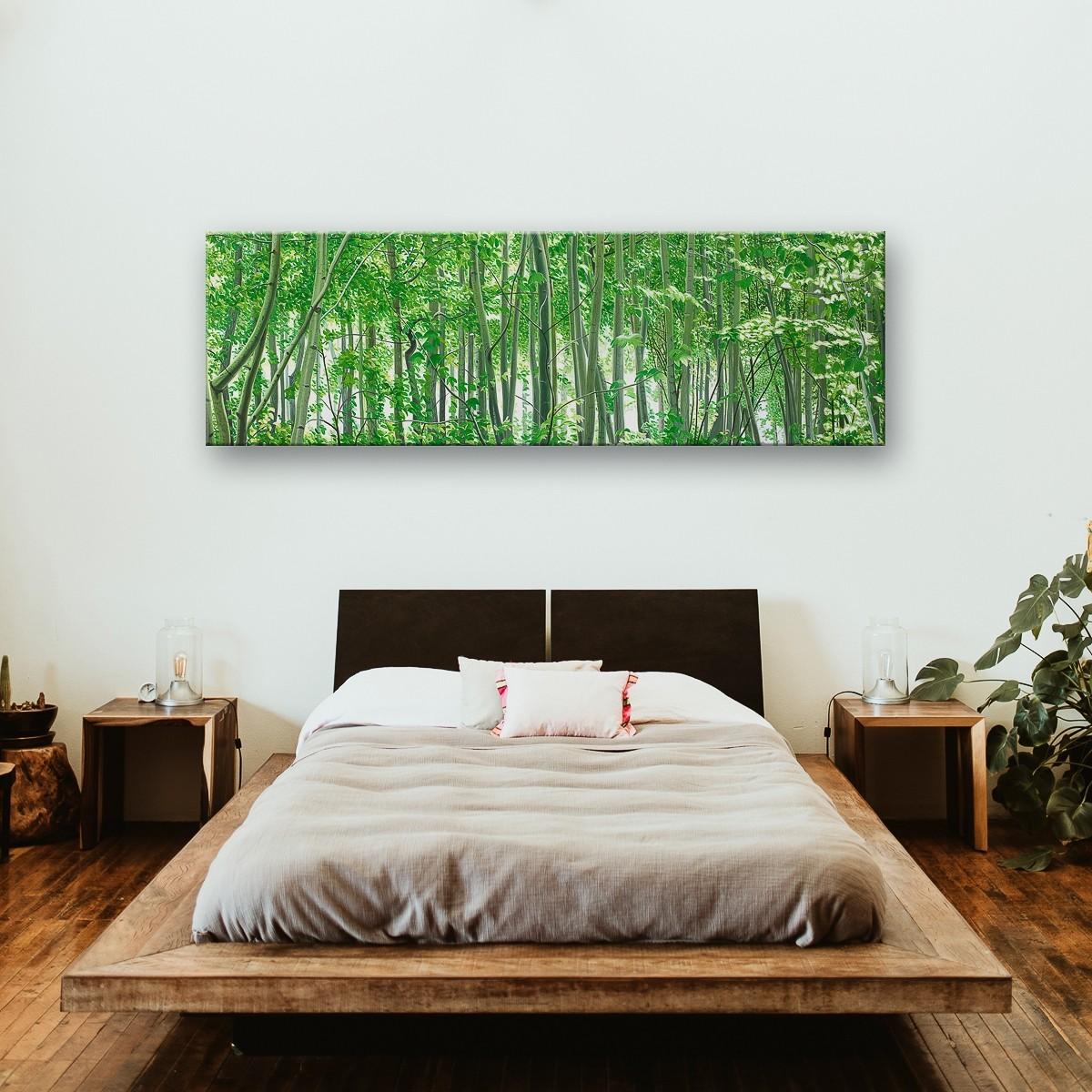 Mythischer Wald | Malerei von Sven Wiebers | Acryl auf Baumwolle, realistisch - Raumansicht