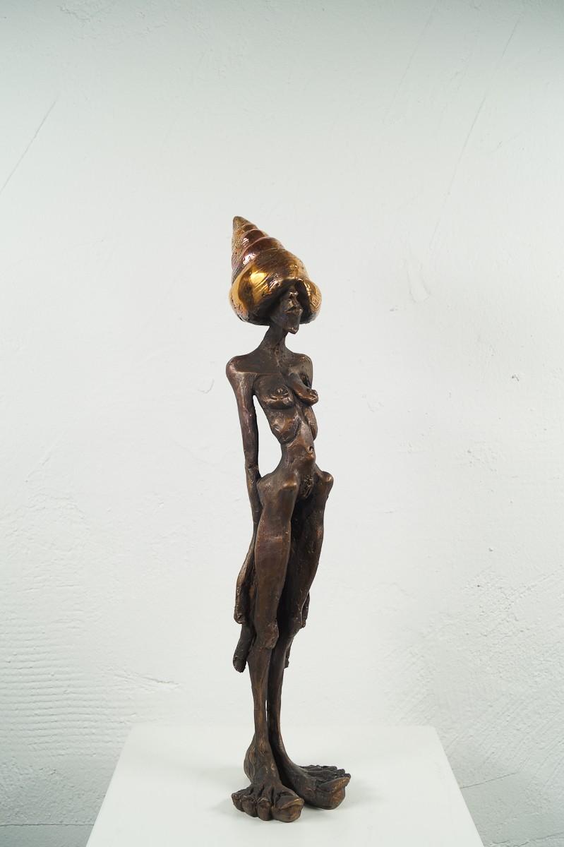 Denkspirale - Bronze Plastik, Skulptur von Tim David Trillsam, Edition