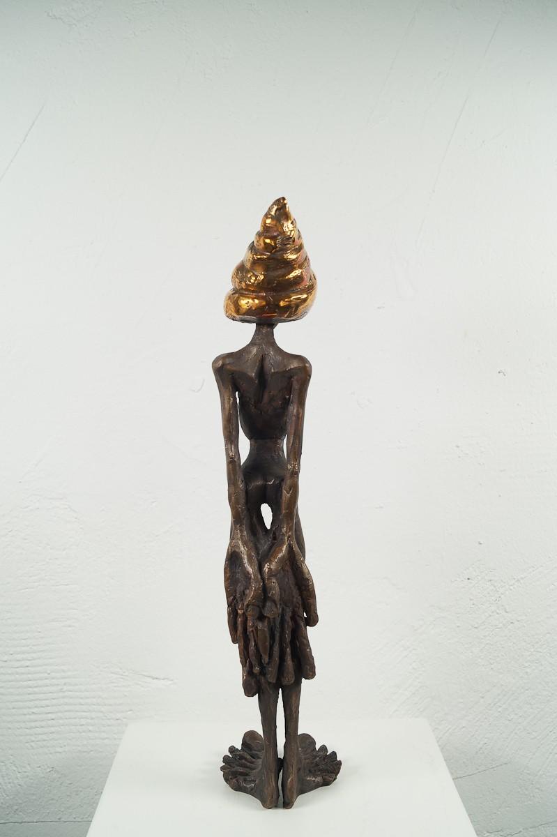 Denkspirale - Bronze Plastik, Skulptur von Tim David Trillsam, Edition - hinten