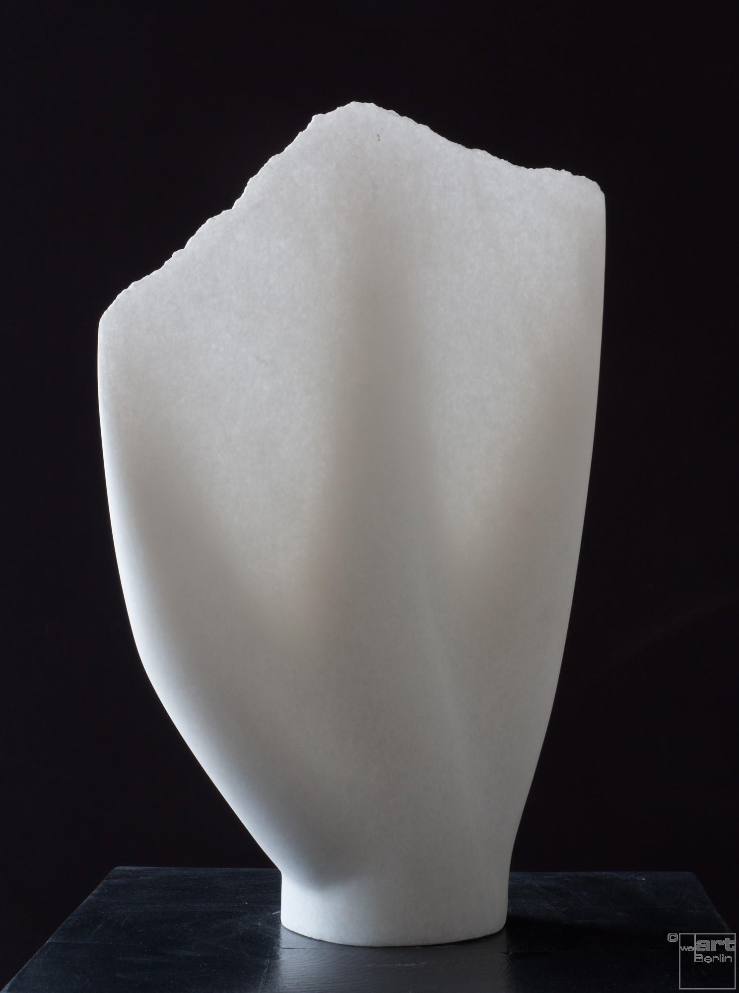 Undine, Stone sculpture, Marble by sculptor Klaus W. Rieck