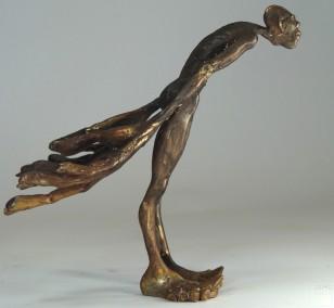 Unschuld - seitlich, Bronze Plastik, Skulptur von Tim David Trillsam