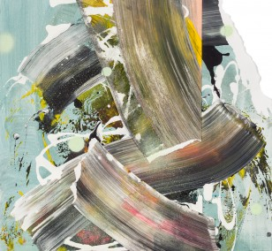 spaces 6.1, painting by Malwin Faber, Acrylic and Spray Paint on Paper