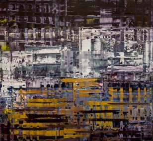 Pixel 1 | Painting by Lali Torma | acrylic on canvas, abstract