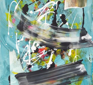 spaces 6.2, painting by Malwin Faber, Acrylic and Spray Paint on Paper