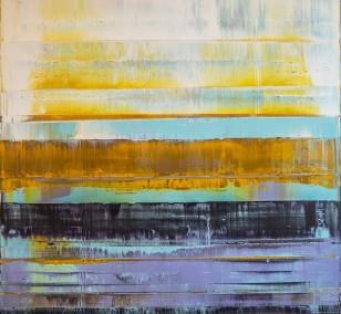 Prism 2 - Turquoise Blink | Painting by Lali Torma | acrylic on canvas, abstract