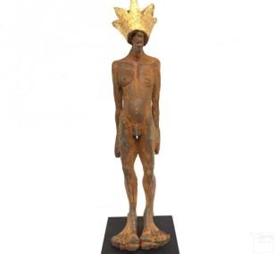 Kleiner Prinz - Eisen Plastik, Skulptur von Tim David Trillsam,