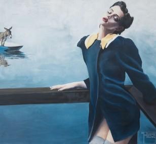 Ich komme | Malerei von Eva Nordal | Öl auf Baumwolle, realistisch