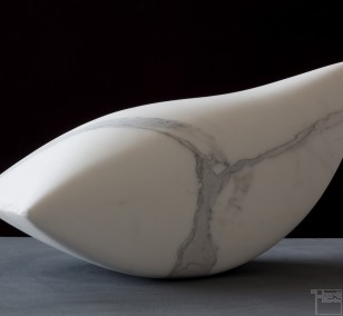 Swing, Marble, Stone sculpture by Sculptor Klaus W. Rieck