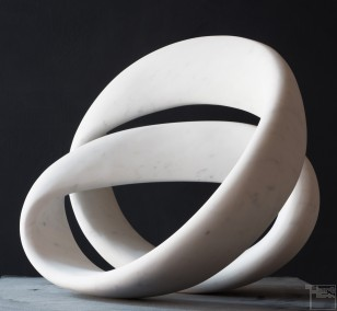 Lightloop, Stone sculpture, Marble by sculptor Klaus W. Rieck
