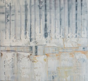Crosscut | Painting by Lali Torma | oil on canvas, abstract