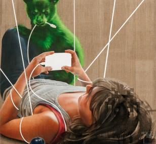 Loop Point | painting by Jakob Tory Bardou, innerfields | acrylic, spray paint on canvas, urban art
