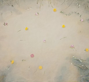 Little puddle | painting by Sven Wiebers | acrylic on cotton, realistic art