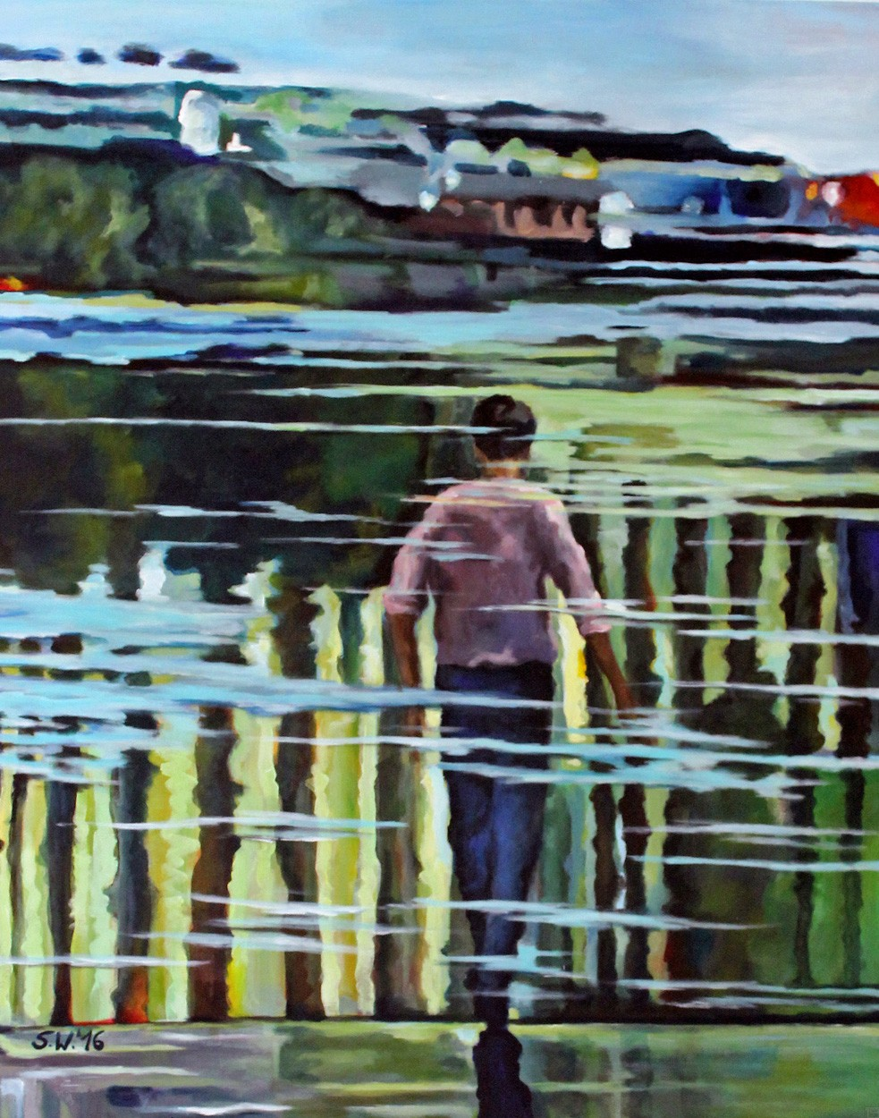 You in the Water | Painting by Artist Simone Westphal, Acrylic on Canvas