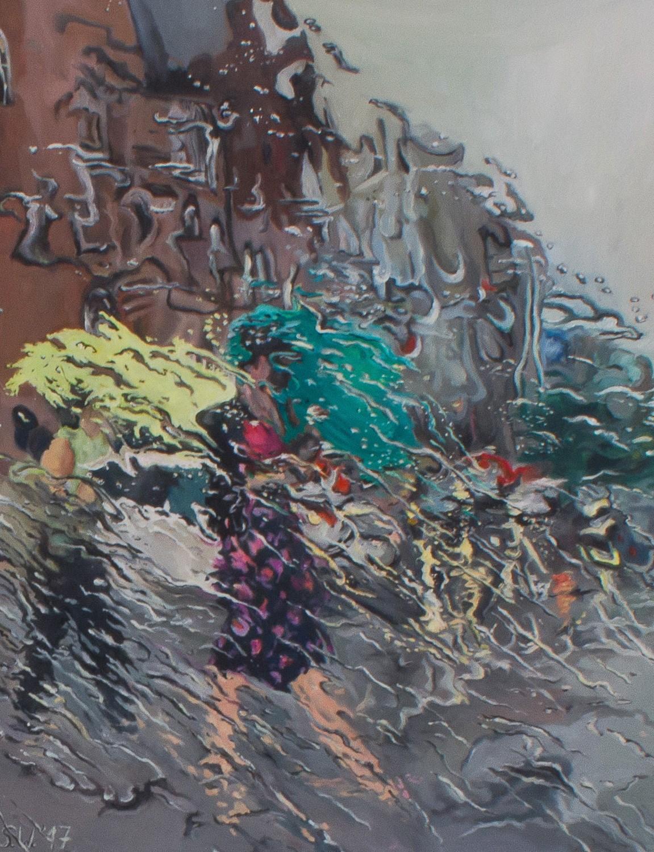 Schauer   Malerei von Künstlerin Simone Westphal, Öl auf Leinwand