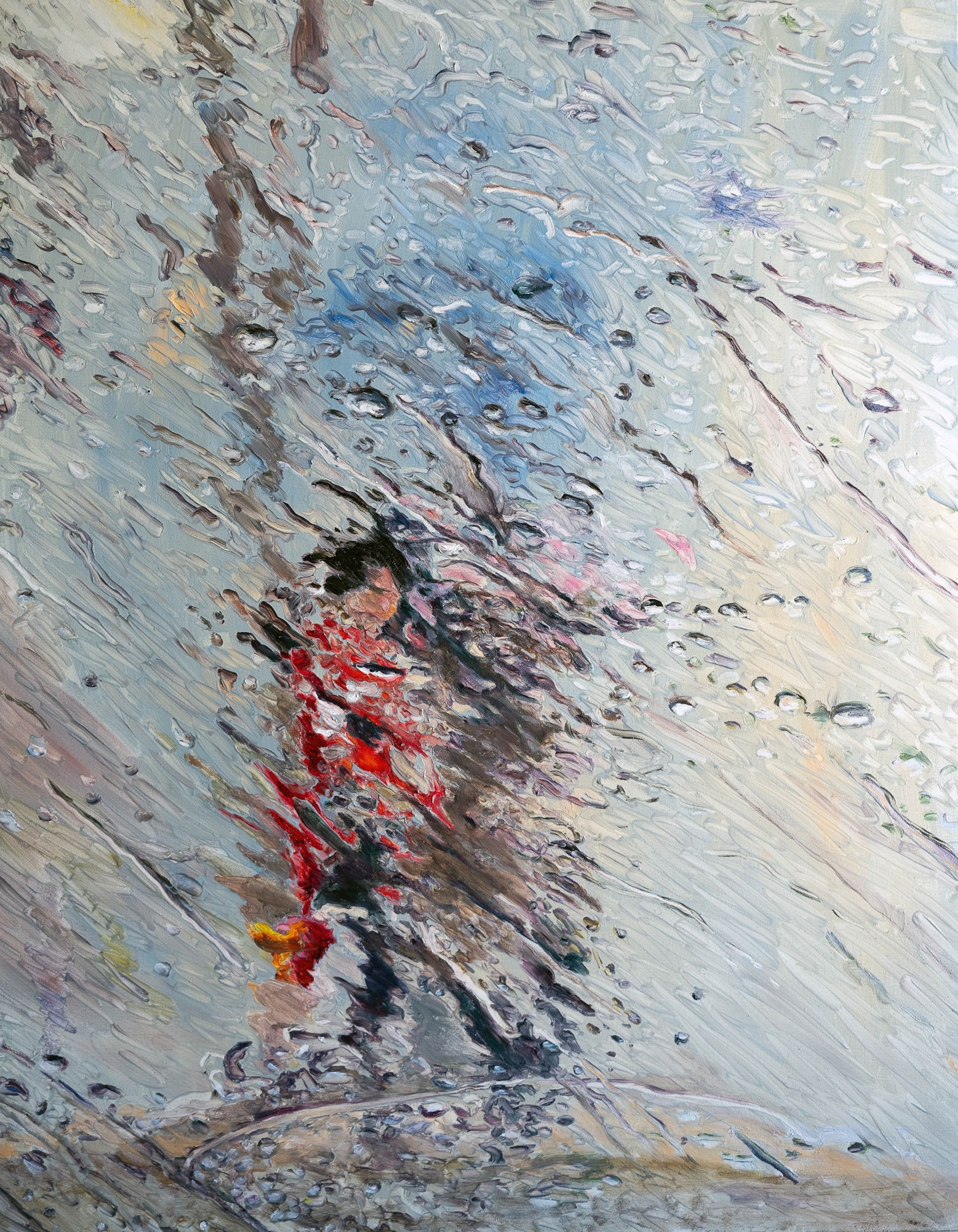 Fluid   Malerei von Künstlerin Simone Westphal, Öl auf Leinwand