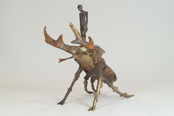Bronze Käfer mit Hirsch