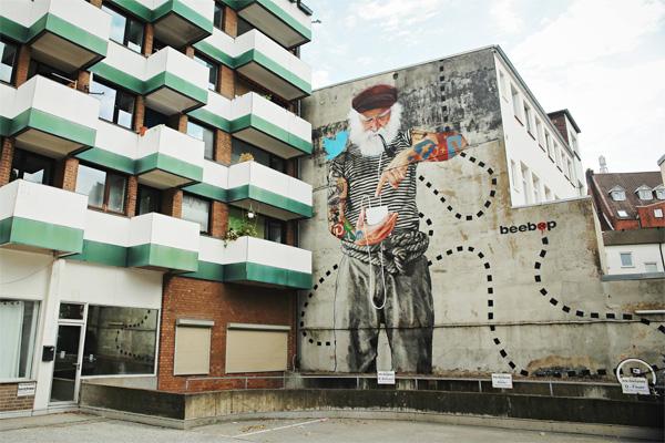 fischersnetz innerfields Fassaden-Kunst